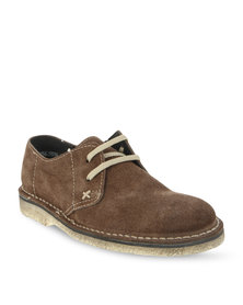 Grasshoppers 5536 Suede Dress Shoes Brown