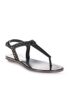 Grendha Studded Flat Sandals Black