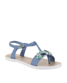 Grendha Deluxe Sand Ad Sandals Blue
