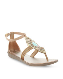 Grendha Is Vibracoes Chin Sandals Gold