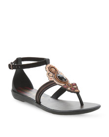 Grendha Is Vibracoes Chin Sandals Black