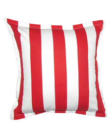 Grey Gardens Stripe Scatter Cushion Red