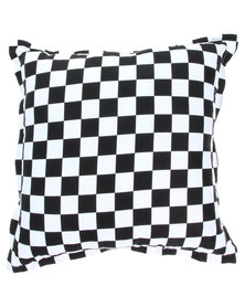 Grey Gardens Mini Check Scatter Cushion Black
