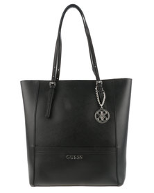 Guess Delaney North South Tote Black
