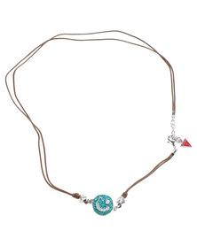 Guess  Love Cord Wrap Bracelet Brown