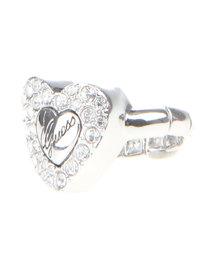Guess Heart Diamante Ring Silver-Tone