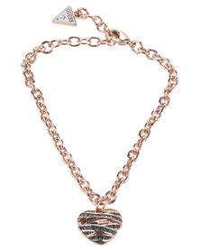 Guess Wrapped with Love Small Heart Bracelet Rose Gold-tone
