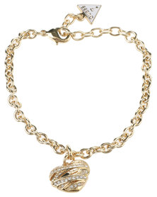 Guess Wrapped with Love Small Heart Bracelet Gold-tone