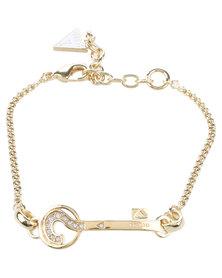 Guess The Secret Key Bracelet Gold-tone