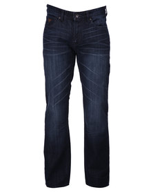 Guess Relaxed Riverfront Wash Denim Jeans Blue