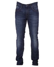 Guess Skinny Denim Jeans In Orion Wash Blue