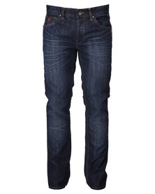 Guess Slim Straight Denim in Bootstrap Wash Jeans