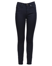 Guess 1981 Power Skinny Jeans In Silicone Rinse Indigo