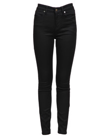 Guess 1981 Power Skinny Jeans In Silicone Rinse Black