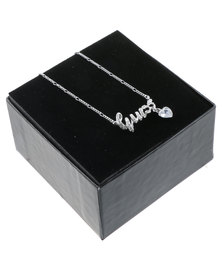 Guess Logo Necklace Silver