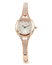 Guess Angelic Mini Dial Bracelet Strap Watch Rose Gold
