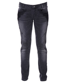 Guess Lamya Skinny Jeans In Chan Wash Black