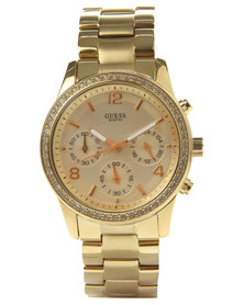 Guess Mini Spectrum Dial Detail Watch Gold