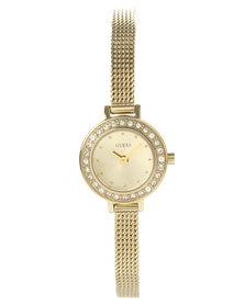 Guess Sabrina Dainty Mesh Strap Watch Gold