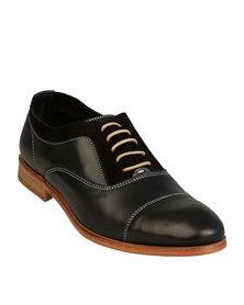 H by Hudson Habana Dress Shoes Black Calf