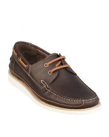 H by Hudson Manketo Boat Shoe Brown