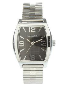 Hallmark Square Dial Flexi Strap Watch Silver