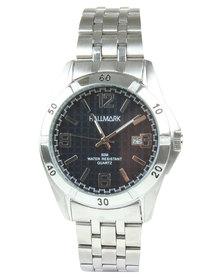 Hallmark Round Blue Dial Bracelet Strap Watch  Silver