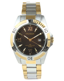 Hallmark Two Tone Bevel Dial Watch Gold/Silver
