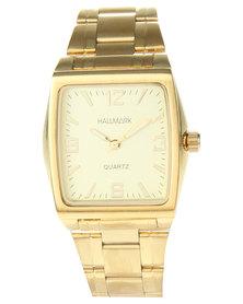 Hallmark Square Dial Bracelet Watch Gold