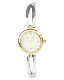 Hallmark Two Tone Round Dial Bracelet Watch