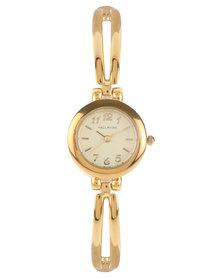 Hallmark Round Dial Bracelet Watch Gold-Toned