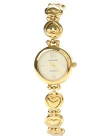Hallmark Dainty Bracelet and Watch Set Gold-Tone