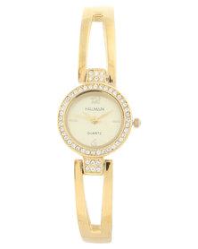 Hallmark Diamante Detail Bracelet Watch Gold-Tone