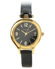 Hallmark Classic Gold Trim Watch Black