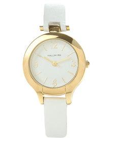 Hallmark Round Dial Watch White