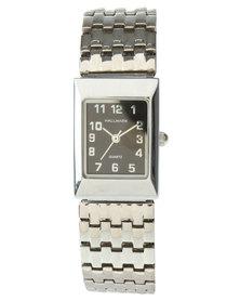 Hallmark Rectangle Dial Flexi Strap Watch Silver