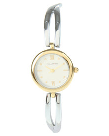 Hallmark Two Tone Round Dial Bracelet Watch