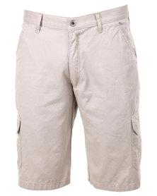 Hammah Cargo Shorts Stone