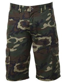 Hammah Cargo Shorts Camo