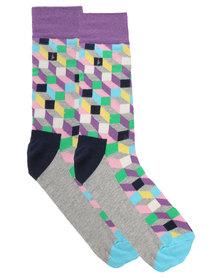Happy Socks  Filled Optic Socks Multi