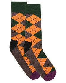 Happy Socks  Argyle Socks Multi