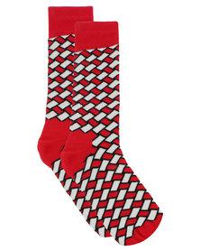 Happy Socks Basket Socks Red