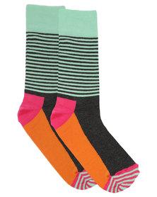 Happy Socks Half Stripe Socks Multi