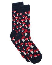 Happy Socks Shrooms Sock Red
