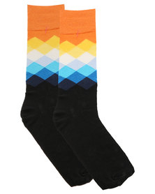 Happy Socks Faded Diamond Socks Multi