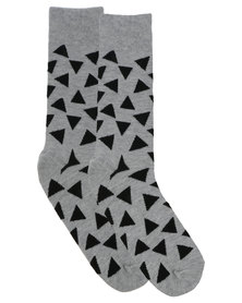 Happy Socks Triangle Sock Grey