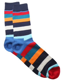 Happy Socks Stripe Socks Blue