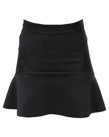 Hashtag Selfie Fit and Flare Mini Skirt Black