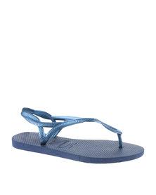 Havaianas Luna Flip Flops Navy Blue