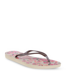 Havaianas Slim Paradiso Ladies Flip Flops Grey